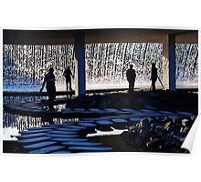 Watergarden silhouette Poster