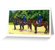 In The Lineup Morgan Horse Show Portrait Greeting Card