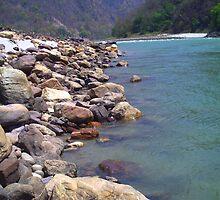 A River, on the Rocks  by Bellani's Studio