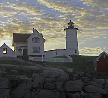 Nubble Light Sunrise by AntonLee