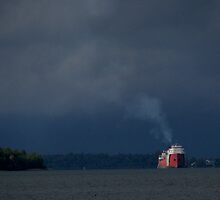 Coming into Port at Sturgeon Bay Wisconsin by loralea