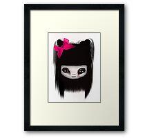 little scary doll Framed Print