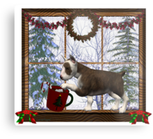 December Puppy .. a christmas tale Metal Print