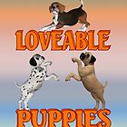Loveable Puppies by LoneAngel