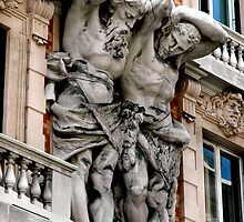 """BUILDING GIANTS ""    GENOA, ITALY  by Edward J. Laquale"