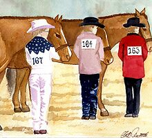 Quarter Horse Youth Showmanship Class Portrait by Oldetimemercan