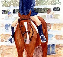 Quarter Horse Youth Hunter Under Saddle Class Portrait by Oldetimemercan