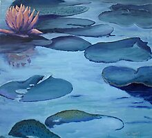 Water Lily in Moonlight by Phyllis Dixon