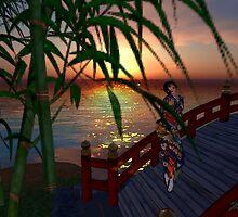 Water and Bridge #3  水および橋 by Marla Louise