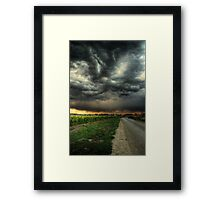 Sunflowers and Thunderstorms Framed Print
