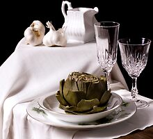 Artichoke Still Life - Simple by Rachel Slepekis