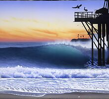 Oil piers by Tim Laski