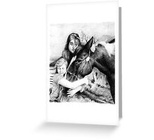 Black Tie Girls Paint Horse Portrait Greeting Card