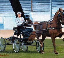 Hackney Horse Portrait by Oldetimemercan