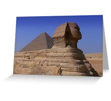Pyramid and Sphynx Greeting Card