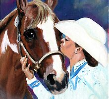 The Kiss Paint Horse Class Winner Portrait by Oldetimemercan