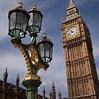 Big Ben and the lamp post by Kane Young