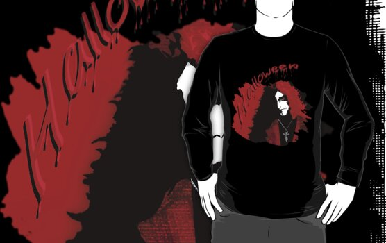Halloween for fun-- vampire love tee  by Marilyns