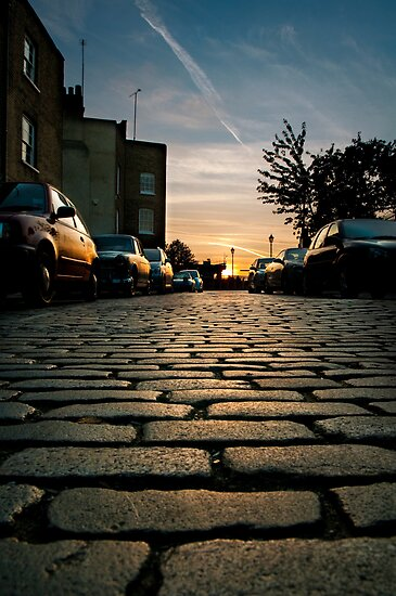 Sunset Cobbles by bache