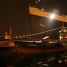 Queen Mary Ship and Russian Submarine Scorpion by Tom-Sky