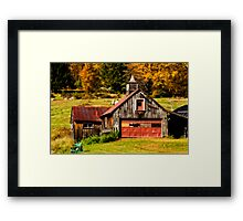 Old New England Barn in Autumn Framed Print
