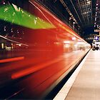 Train in Cologne by Mariann Rea