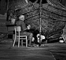 MarsaXlokk Malta ---- multi skilled fisherman by Edwin  Catania