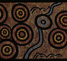 Wiradjuri Families Australian Aboriginal Art by David Williams by aboriginalart