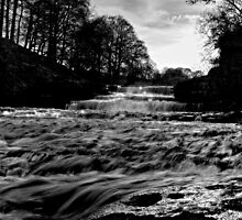 Aysgarth Falls B&W by Paul Thompson Photography