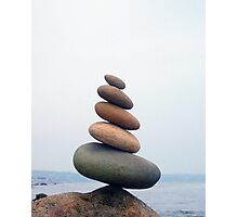 Five Stones Leaning Photographic Print