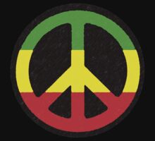 Rasta Peace Sign by Blahzeedee