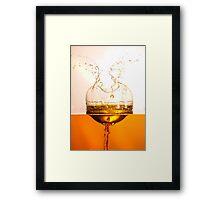 Oil Splash Framed Print