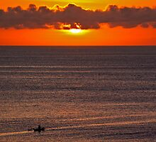 Bali straights sunset by Trevor Murphy