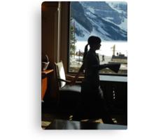 A Work Space ~ Lake Louise Window Series Canvas Print