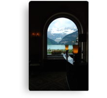 Warmth Within - Lake Louise Window Series Canvas Print
