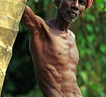 Old Boatman, Kerala Backwaters (India)  by Petr Svarc