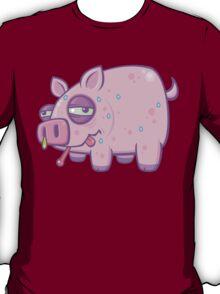 Cartoon Swine Flu Pig T-Shirt