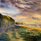 Splash of  Gold- Sewerby Cliffs by Glenn Marshall