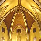Loretto Chapel - Ceiling Area by David DeWitt