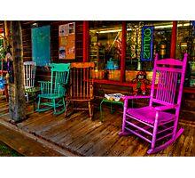 Rocking Chairs Photographic Print