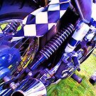 Norton Motorcycle -- checkered flag 1 by Dave McBride