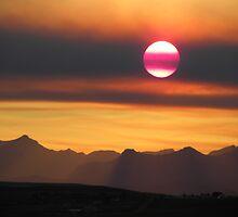 Smokey Summer Sunset  by Judy Grant