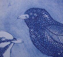 (detail of) Superb Fairy Wrens by jobanana