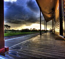 Spring rains over Geelong by Garry Quince