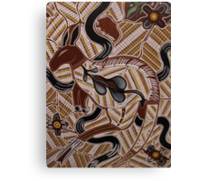 ganhur (red kangaroo) by Australian Aboriginal artist S Hooper Canvas Print