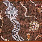 Hunting 080109 by Australian Aboriginal Artist David Williams by aboriginalart