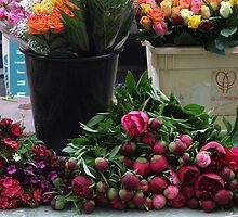 Vibrant Flowers at a Farmer's Market by AvrilLynn