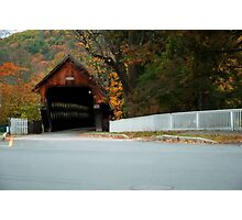 Middle Covered Bridge in Woodstock Vermont Photographic Print