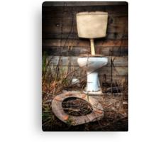 Atmospheric Toilet Cabin Canvas Print