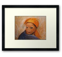 Grace, Pastel painting Framed Print